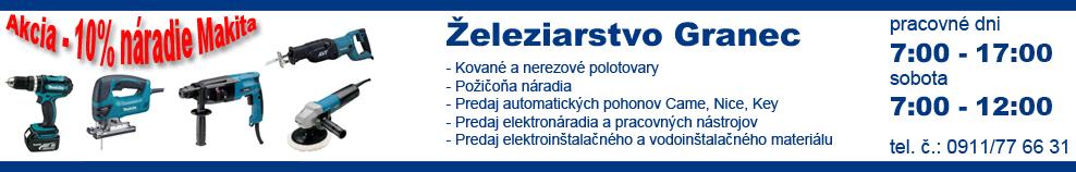 Reklama - Železiarstvo Granec
